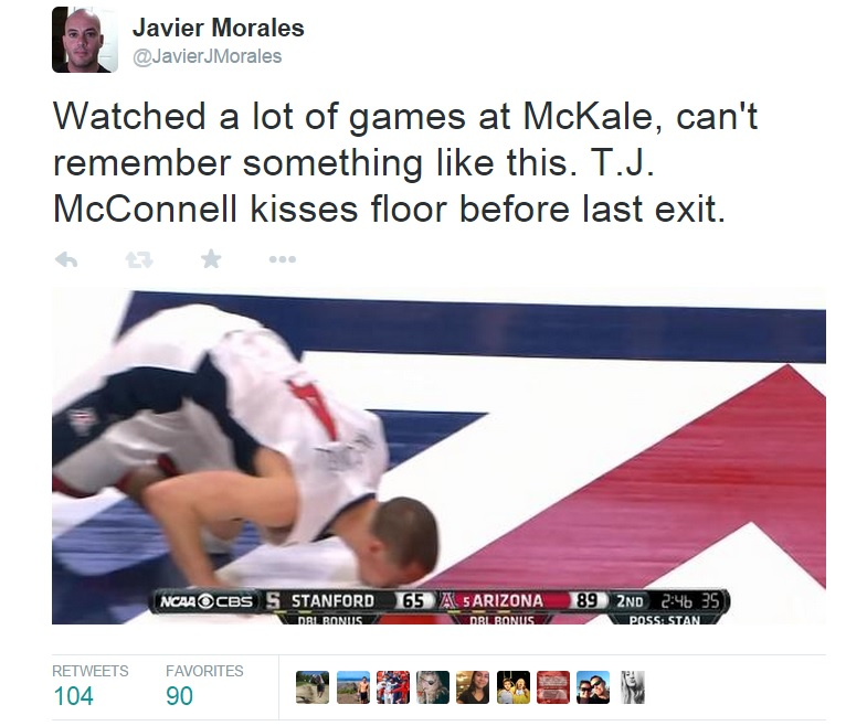 Social media reactions of Arizona Wildcats' emotional win over Stanford