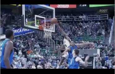 Tucson's Bryce Cotton throws down one of best alley oops of the NBA season