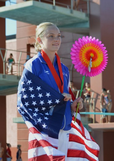 Tucson High's Delaney Schnell earns bronze at FINA Diving Grand Prix