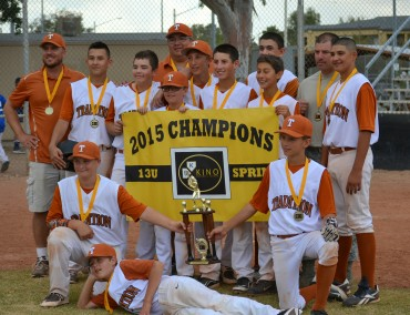 Tradition Baseball wins Kino Baseball Spring 13U Championship