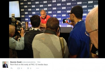 Social media reactions of Arizona Wildcats coach Rich Rod killing it at Pac-12 Media Day