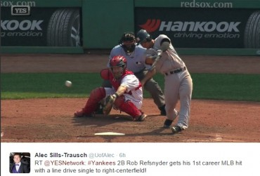Twitter reactions of Refsnyder's weekend major-league debut with Yankees