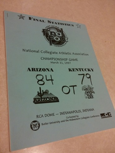 Throwback Thursday: Official Arizona Wildcats 1997 title final stats and play book