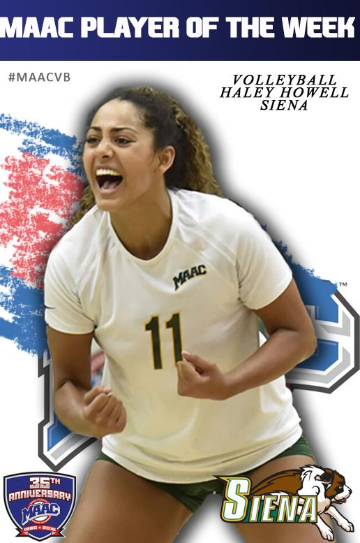 Haley Howell named MAAC Volleyball Player of the Week
