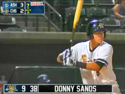 Donny Sands promoted to Charleston, picks up important RBI in first game