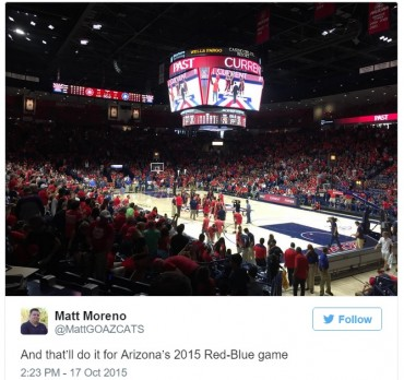 Social media reactions of Arizona Wildcats Red-Blue Scrimmage