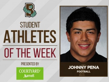 Johnny Peña earns Brown Student-Athlete of the Week honor