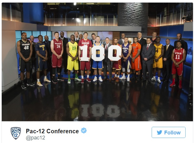 Pac-12 hoops media day regional beat reporter social media reactions