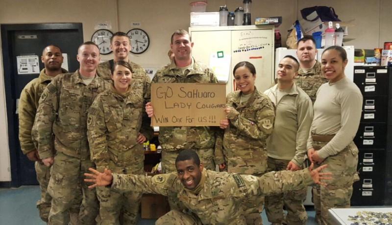 Bagram Airfield sends encouragement to Sahuaro girl's hoops team