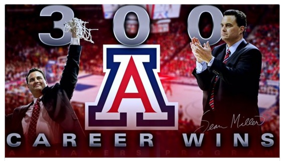 Sean Miller earns 300th career victory in Arizona's win over Oregon State