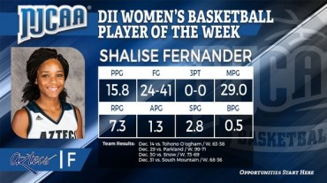 Shalise Fernander named national DII Women's Basketball Player of the Week