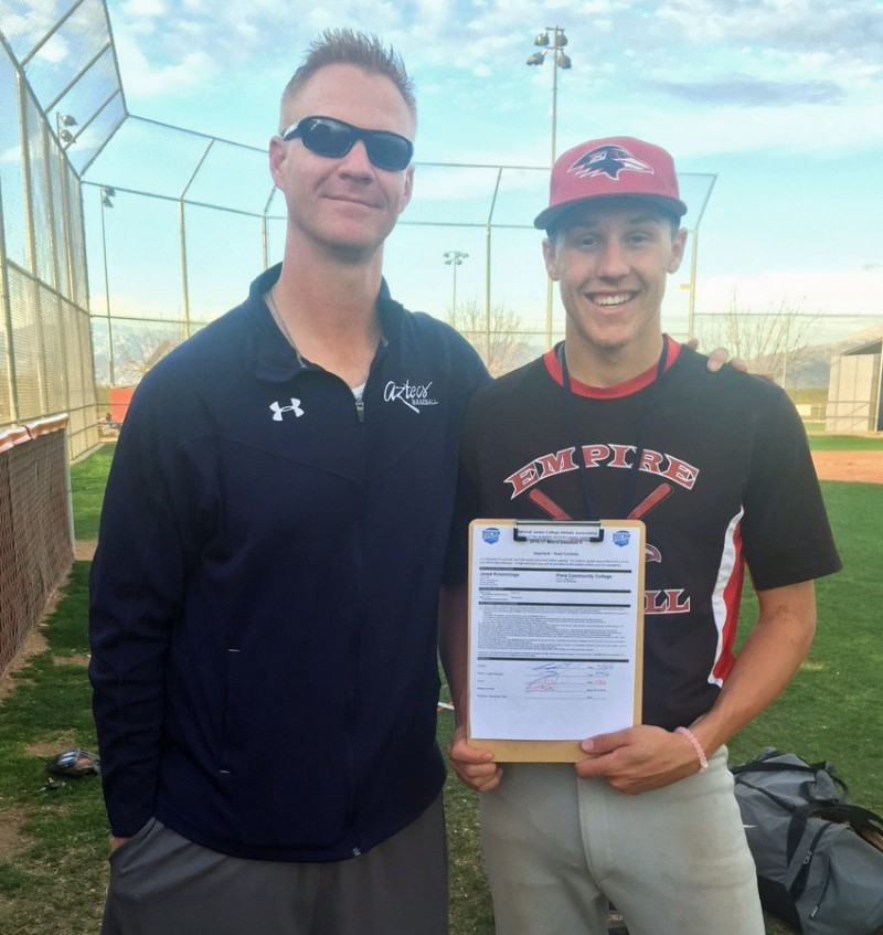 Empire baseball standouts Jared Kromminga and Nathan Delahanty sign NLI's