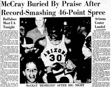 Today marks 56th anniversary of McCray's school-record 46-point game