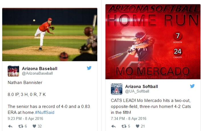 Arizona Wildcats in the News: Bannister, Mercado lift baseball, softball teams to wins