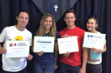 Flowing Wells & Desert Christian college signings held today
