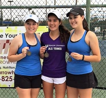 Girl's Tennis All-Stars: Lindsey Pesquiera, Abby Watson & Halle Zadro