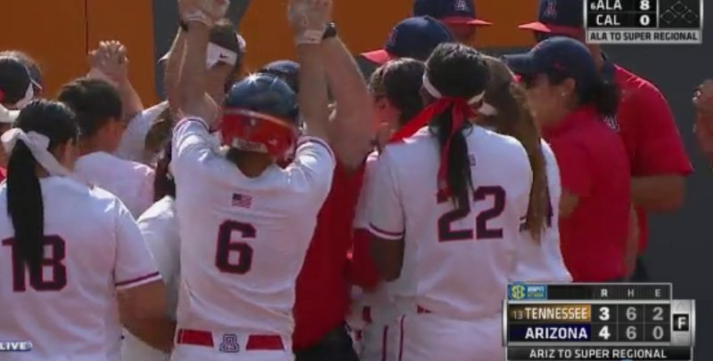 Arizona Wildcats sweep Knoxville regional, advance to NCAA Super Regional at Auburn