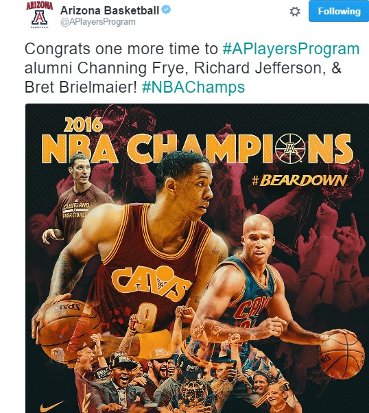 Social media reactions of former Arizona Wildcats winning NBA title with Cavaliers