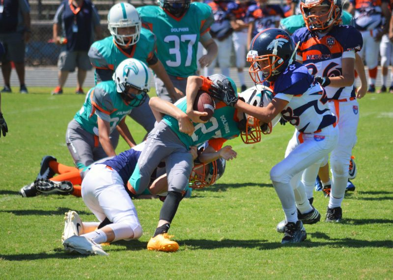 12U TYF: Dolphins use running attack to get past Broncos