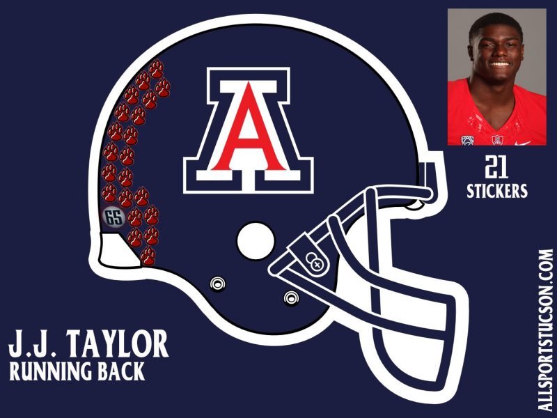 Arizona Wildcats helmet stickers: Game 3