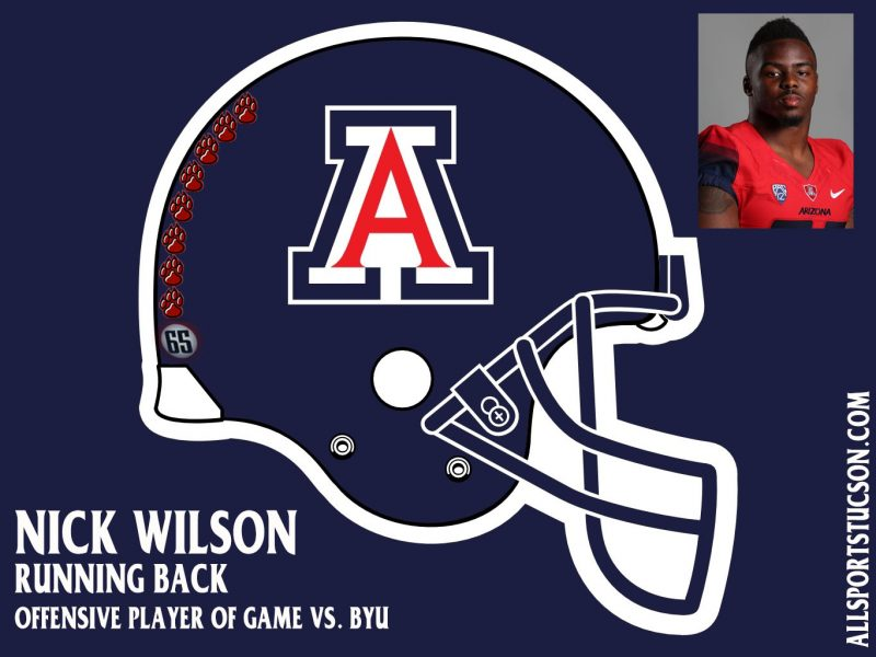 Arizona Wildcats helmet stickers: Game 1