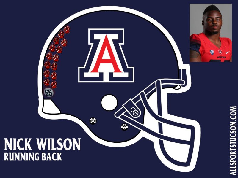 Arizona Wildcats helmet stickers: Game 2